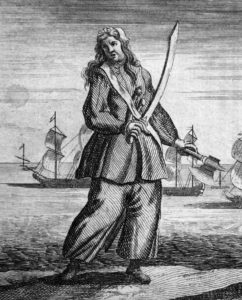 Mary Read with Axe and Sword