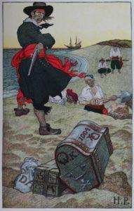 Pirates stashing the loot